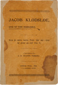 Books:Travels & Voyages, [Abraham H. Yeager]. Jacob Klodsloe, One of the Nobodies: How HeCame Home from the War - How He Grew Up and Into It...