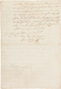 Autographs:Non-American, Juan Antonio Padilla Document Signed....