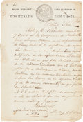 Autographs:Statesmen, Sterling C. Robertson Manuscript Document Signed...