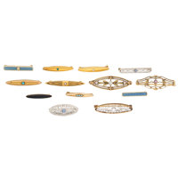 Diamond, Multi-Stone, Seed Pearl, Enamel, Platinum-Topped Gold, Gold Brooches