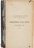 Books:Americana & American History, [George Montague] Wheeler. U.S. Geographical Surveys West of100th Meridian. Topographical Atlas Sheets. [Washington...