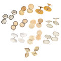 Estate Jewelry:Cufflinks, Diamond, Enamel, Gold Cuff Links. . ... (Total: 20 Items)