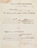 Autographs:Statesmen, Francis R. Lubbock Document Signed....