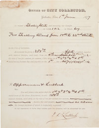 Francis R. Lubbock Document Signed