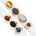 Estate Jewelry:Rings, Gentleman's Multi-Stone, Gold Rings. ... (Total: 7 Items)