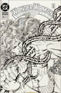 Original Comic Art:Covers, George Perez Wonder Woman V2#54 Cover Original Art (DC, 1991)....