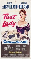 "Movie Posters:Adventure, That Lady (20th Century Fox, 1955). Three Sheet (41"" X 77"").Adventure.. ..."