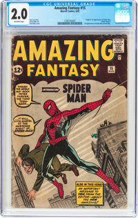 Amazing Fantasy #15 (Marvel, 1962) CGC GD 2.0 Off-white pages