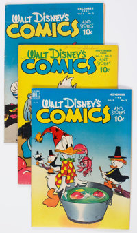 Walt Disney's Comics and Stories Group of 27 (Dell, 1945-49) Condition: Average VG.... (Total: 27 Comic Books)