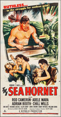 "Movie Posters:Adventure, The Sea Hornet (Republic, 1951). Three Sheet (41"" X 81"").Adventure.. ..."