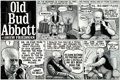 "Original Comic Art:Complete Story, Drew Friedman Weirdo #6: ""Old Bud Abbott"" Complete Half-Page Story Original Art (Last Gasp Eco-Funnies, 1982)...."