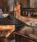 Fine Art - Work on Paper:Drawing, Francis Erdelyi (Hungarian/American, 1904-1959). New YorkRooftops, 1939. Pastel on paper. 21-3/4 x 19 inches (55.2 x48...
