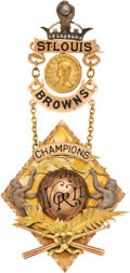 Baseball Collectibles:Others, 1886 St. Louis Browns World Championship Award Presented to PitcherDave Foutz....