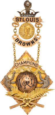 1886 St. Louis Browns World Championship Award Presented to Pitcher Dave Foutz