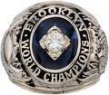 Baseball Collectibles:Others, 1955 Brooklyn Dodgers World Championship Ring Presented to Pitcher Roger Craig....