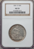 Seated Half Dollars, 1841-O 50C WB-101, Die Pair-6, R.4, AU55 NGC. Lightly toned at the borders. NGC Census: (17/49). PCGS Population: (17/48). ...