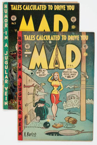 MAD #4 and 5 Canadian Editions Group (Superior Comics, 1953).... (Total: 2 Comic Books)