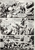 Original Comic Art:Panel Pages, Gene Colan and Frank Giacoia Tales of Suspense #88 StoryPage 5 Iron Man Original Art and Stan Lee Signature (Marv...