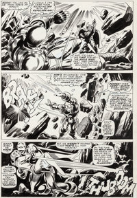 Gene Colan and Frank Giacoia Tales of Suspense #88 Story Page 5 Iron Man Original Art and Stan Lee Signature (Marv