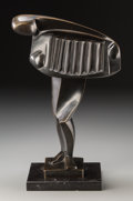 Ferdinand Parpan (French, 1902-2004) L'Accordéoniste, designed 1935 Bronze with blackish-brown patin