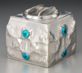 Silver & Vertu:Hollowware, An Archibald Knox Tudric Enameled Pewter Biscuit Box for Liberty & Co., circa 1902. Marks: TUDRIC, MADE IN ENG...