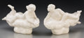 Ceramics & Porcelain, American:Modern  (1900 1949)  , Two Wheeler Williams Glazed Porcelain Figures: April Showers & March Winds, circa 1943-45. Marks: (i... (Total: 2 Items)