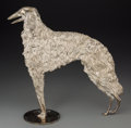 Silver Holloware, Continental, A Hagenauer Silvered Metal Figure of a Borzoi Hound, first quarter20th century. Marks: HAGENAUER, WIEN, WHW. 14-1/2 inc...