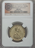 Lincoln, 1860 Abraham Lincoln Campaign Medal MS62 NGC. King-38,DeWitt-AL-1860-41, Cunningham-1-500Bs. Ex: Eric P. NewmanCollection....