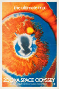 "Movie Posters:Science Fiction, 2001: A Space Odyssey (MGM, 1970). One Sheet (27"" X 41.25"")Psychedelic Eye Style.. ..."