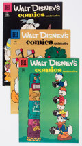 Golden Age (1938-1955):Cartoon Character, Walt Disney's Comics and Stories #186, 187, and 199 File CopiesGroup (Dell, 1956-57) Condition: Average VF.... (Total: 3 ComicBooks)