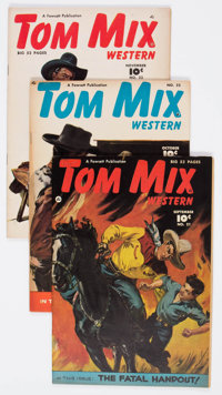 Tom Mix Western #21-30 Group (Fawcett Publications, 1949-50) Condition: Average FN+.... (Total: 10 Comic Books)