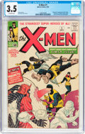 Silver Age (1956-1969):Superhero, X-Men #1 (Marvel, 1963) CGC VG- 3.5 Off-white pages....