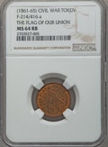 Civil War Patriotics, Undated The Flag of our Union MS64 Red and Brown NGC.Fuld-214/416a....