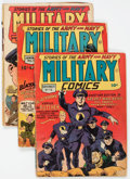 Golden Age (1938-1955):Adventure, Military Comics Group of 5 (Quality, 1942-43) Condition: Average GD/VG.... (Total: 5 Comic Books)