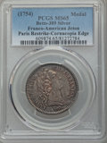 Betts Medals, (1754) Non Inferiora Metallis, Paris Mint Restrike, MS65 PCGS.Betts-389. Silver. Cornucopia on edge....