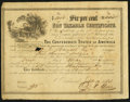 Confederate Notes:Group Lots, Ball 369 Cr. 155 $5000 1864 Six Per Cent Non Taxable CertificateVery Fine.. ...
