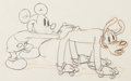 Animation Art:Production Drawing, Society Dog Show Mickey Mouse and Pluto Animation Drawing(Walt Disney, 1939). ...