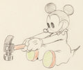 Animation Art:Production Drawing, Mickey's Nightmare Baby Mouse Animation Drawing (WaltDisney, 1932)....