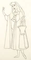 Animation Art:Production Drawing, Sleeping Beauty Briar Rose Animation Drawing (Walt Disney,1959).. ...