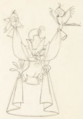 Animation Art:Production Drawing, Sleeping Beauty Mock Prince Animation Drawing (Walt Disney,1959).. ...