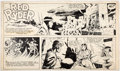 Original Comic Art:Comic Strip Art, Fred Harman Red Ryder Partial Sunday Comic Strip Original Art dated 8-20-39 (NEA, 1939)....