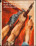 """Movie Posters:War, World War II Propaganda (U.S. Government Printing Office, 1942).OWI Poster No. 8 (22"""" X 28""""""""). """"Strong in the Strength of t..."""