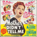"Movie Posters:Comedy, Mother Didn't Tell Me (20th Century Fox, 1950). Six Sheet (79"" X79""). Comedy.. ..."