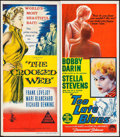 """Movie Posters:Crime, The Crooked Web & Other Lot (Columbia, 1955). AustralianDaybills (2) (13.25"""" X 29.75""""). Crime.. ... (Total: 2 Items)"""