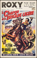 "Movie Posters:Action, The Charge of the Light Brigade (Warner Brothers, R-1950s). Belgian(14"" X 21.5""). Action.. ..."