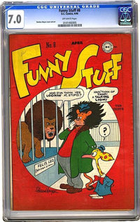 Funny Stuff #8 (DC, 1946) CGC FN/VF 7.0 Off-white pages