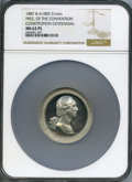 Washingtonia, 1887 Constitution Centennial, Washington, MS62 Prooflike NGC. Baker-A1805, Musante GW-1042. White metal, 51mm, plain edge....