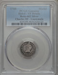 Betts Medals, Charles III Proclamation of Guatemala -- Holed -- PCGS Genuine. VFDetails. Betts-462. Silver, 16.7 mm, 1.5 grams. (Est. $30...