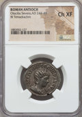 Ancients:Roman Provincial , Ancients: SYRIA. Antioch. Otacilia Severa (AD 244-249). BItetradrachm. NGC Choice XF....