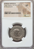 Ancients:Roman Provincial , Ancients: SYRIA. Antioch. Trajan Decius (AD 249-251). BItetradrachm. NGC XF....